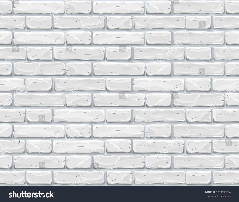 Cartoon White Brick Wall Texture Vector Illustration Sponsored Spon Brick White Cartoon Wall White Brick Walls Texture Vector Textured Walls