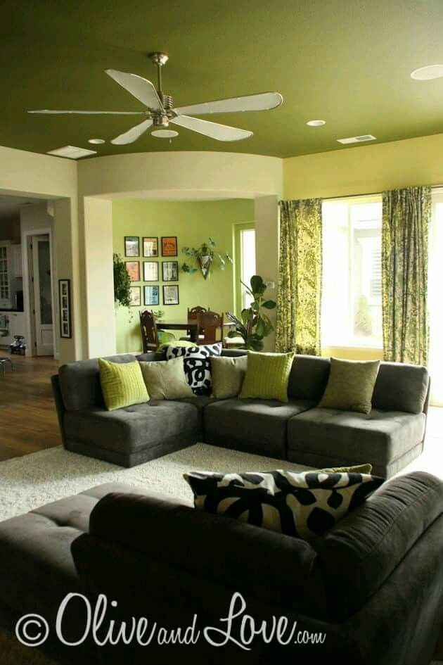 Love The Wall And Ceiling Colors With Grey Couch Wonder If This Would Work In My Living Roomand Hubby Go For It