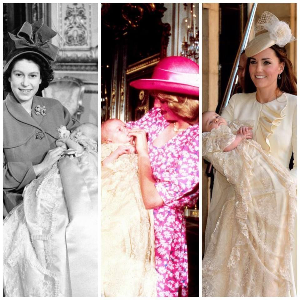 Three generations, 3 christenings: Princess Elizabeth with Prince ...