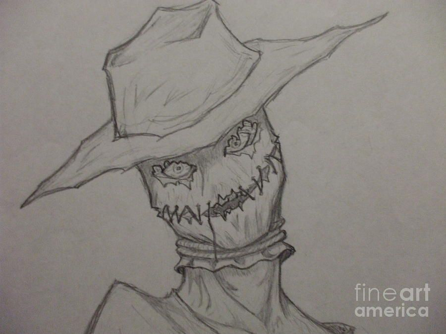 Scary Scarecrow Drawings Scary Drawings Scary Scarecrow
