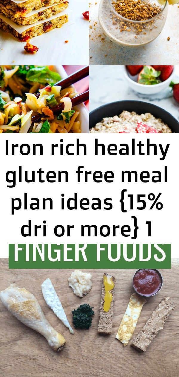 Iron rich healthy gluten free meal plan ideas {15 dri or