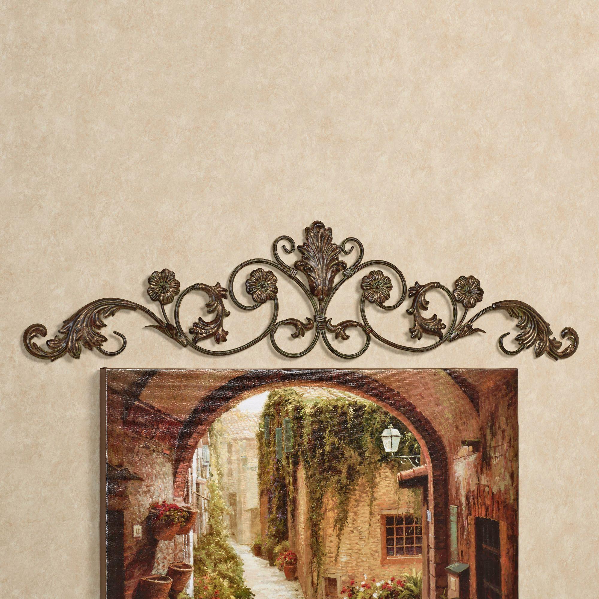 Bronze Wall Decor Violetta Wrought Iron Decorative Wall Topper World Old World