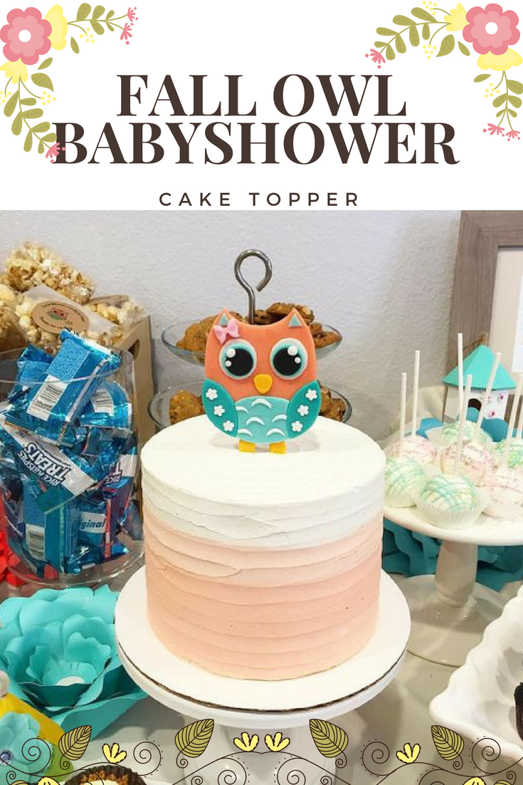 Superb Owl Fondant Cake Topper Owl Cake Topper Owl Party Owl Baby Personalised Birthday Cards Sponlily Jamesorg