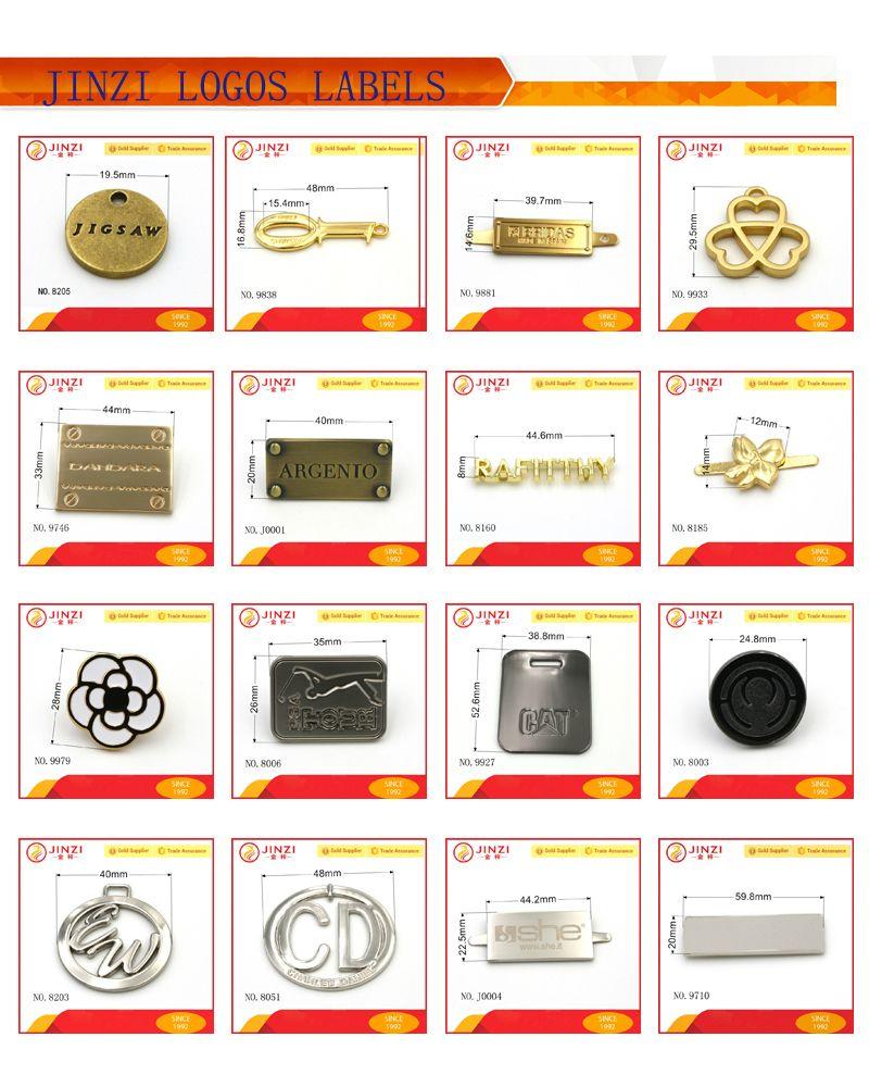 Custom Designer Metal Labels And Tags,Private Name Logo