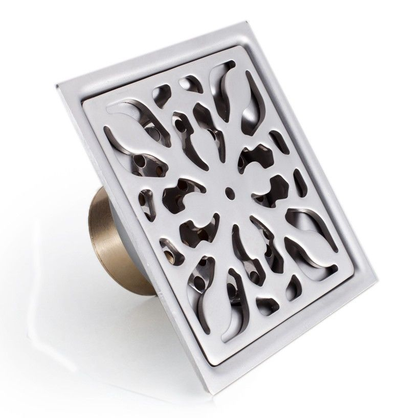 New 3 Inch Stainless Steel Shower Drain Square Floor Waste Grate T586