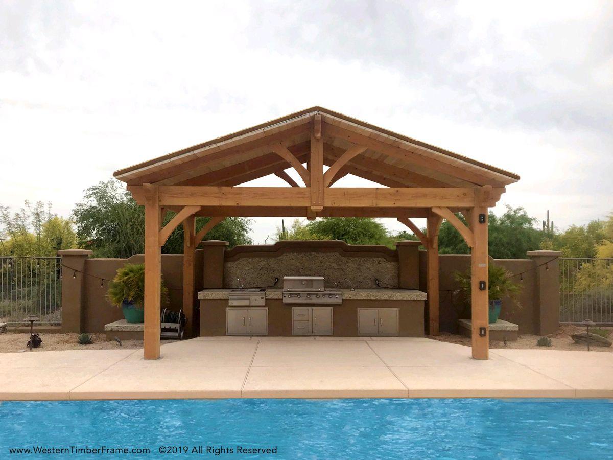 Easy Fast Shade Power Your Outdoor Kitchen Pergola Backyard Shade Backyard Pavilion
