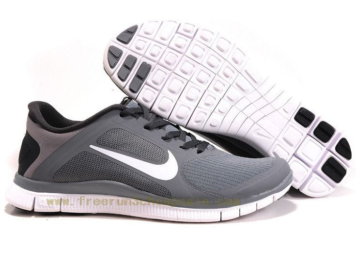 Nike Free Run Mens Shoes Breathable Grey White