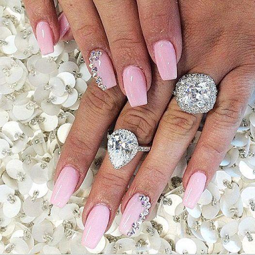 Pretty pink acyrlic nails done at #laque #laquenailbar #getlaqued ...