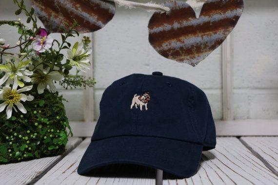 Vintage PUG Baseball Cap Low Profile Dad Hats Baseball Hat Embroidery Navy  Blue ✷ Navy Blue ✷ 100% Cotton ✷ One Size adjustable strap ✷ 9c24afc797d7