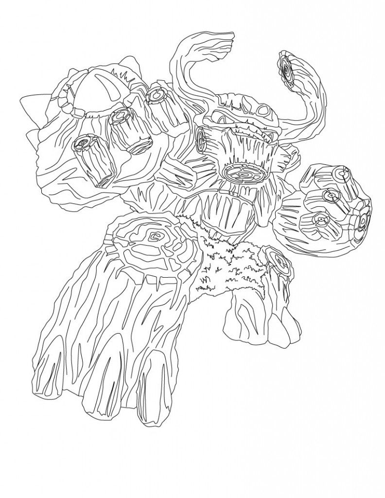 skylander giant coloring page video game coloring pages