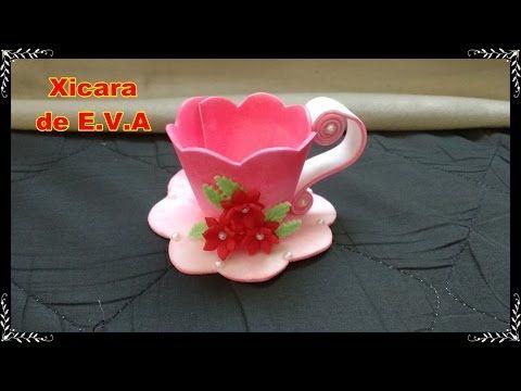 Sabor de Vida Artesanatos   Porta Chá de EVA por Paty Maciel - 18 de Maio de 2014 - YouTube