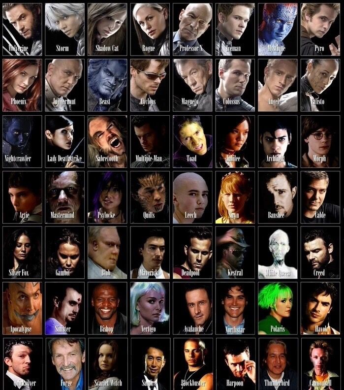 X Men Movie Characters Man Character Marvel Superheroes Characters Comic Actor