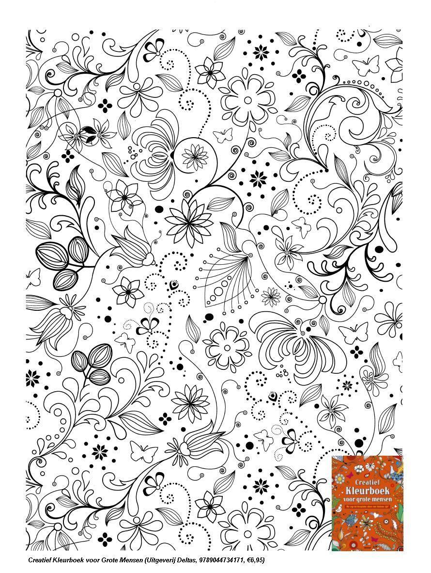 Natuur Kleurplaten Deltas.Pin Van Flairnl Op Kleurplaten Voor Volwassenen Pinterest