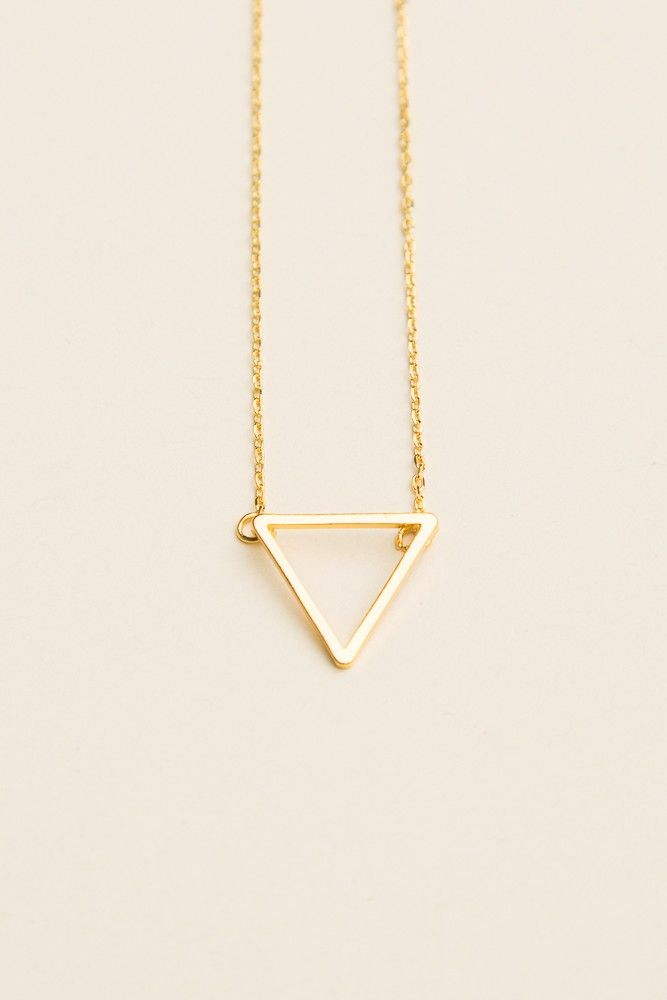 Brandy ♥ Melville   Gold Open Triangle Necklace - Accessories