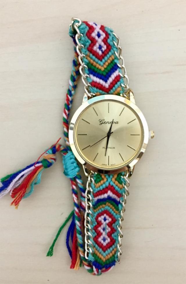 Reloj Pulsera De Hilos Con Imagenes Relojes Con Cuentas