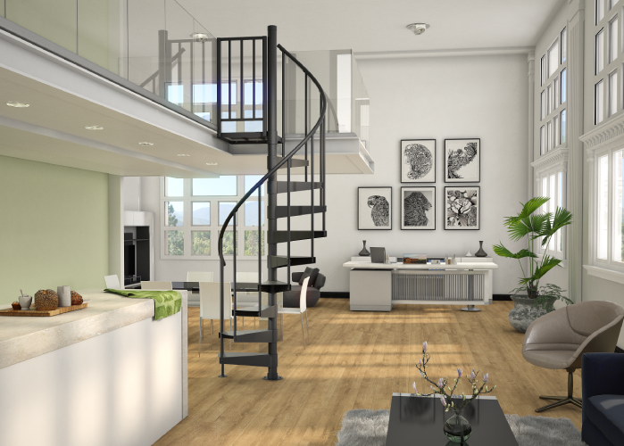 Indoor Spiral Staircases (5,000+ Design Options) | Paragon Stairs