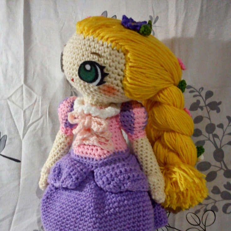 Toy Art Amigurumi Rapunzel - receita de Crochelandia | 735x735