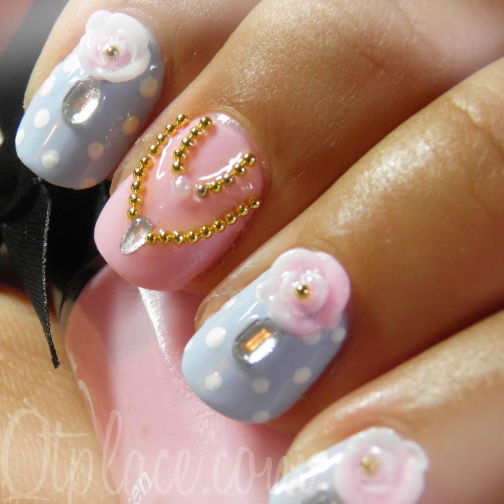 Vintage-lady-princess-nail-art fits very well with our Cinderella inspired - Vintage-lady-princess-nail-art Fits Very Well With Our Cinderella