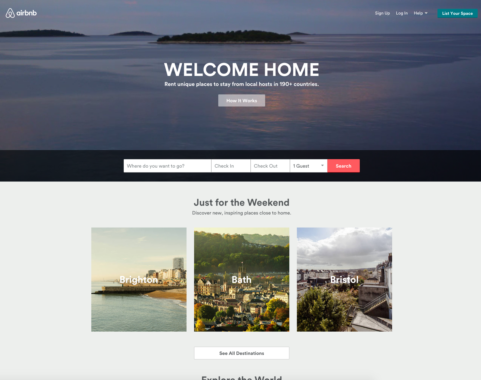 airbnb -Holiday rentals -  Clear and simple