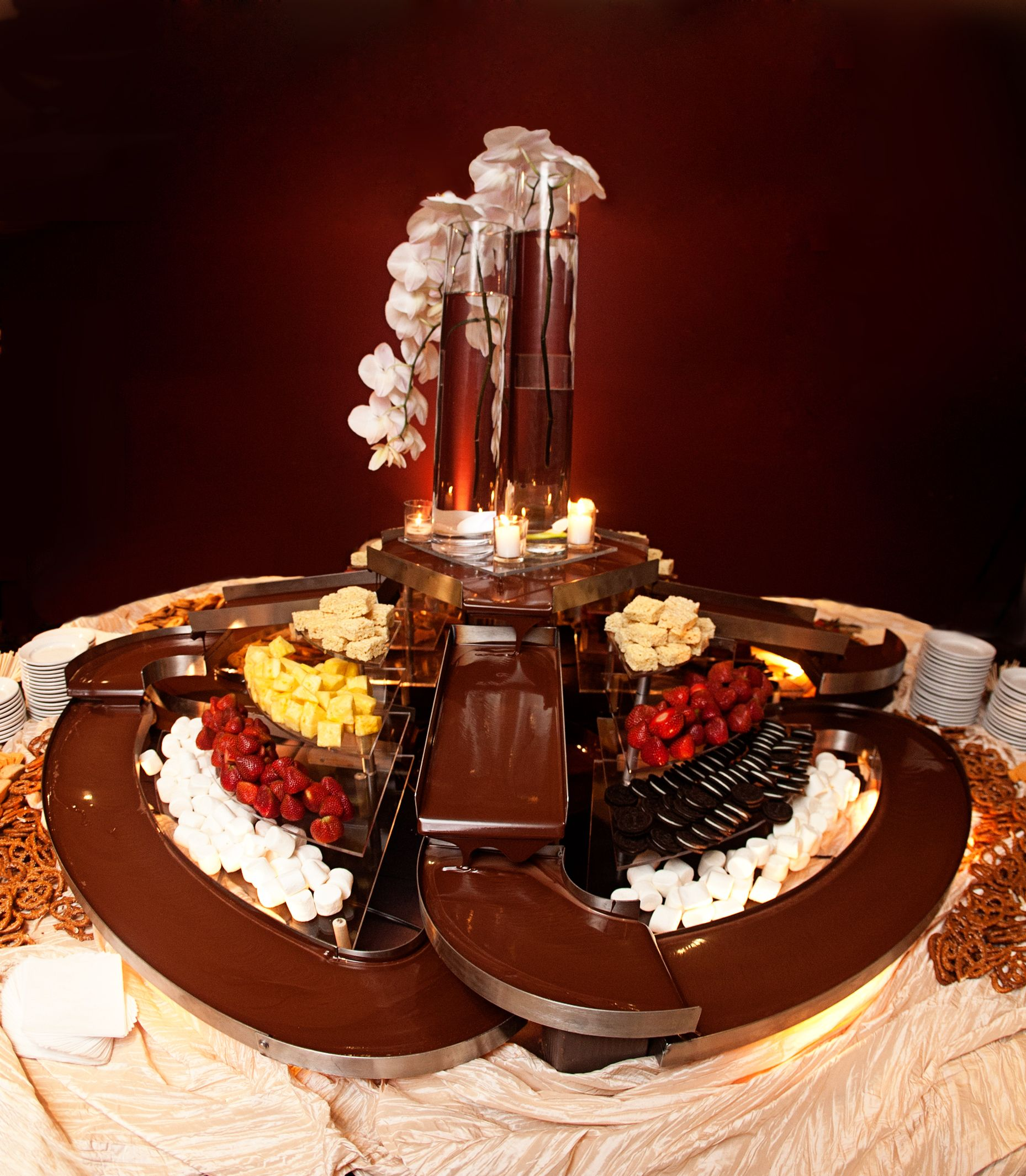 chocolate fountain wedding cake chocolate river fondue chocolate fondue 12702