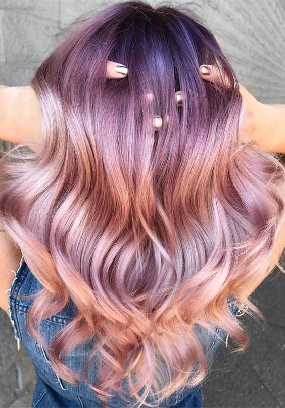 Best metallic hair color tones with wonderful hair texture 2017-2018.