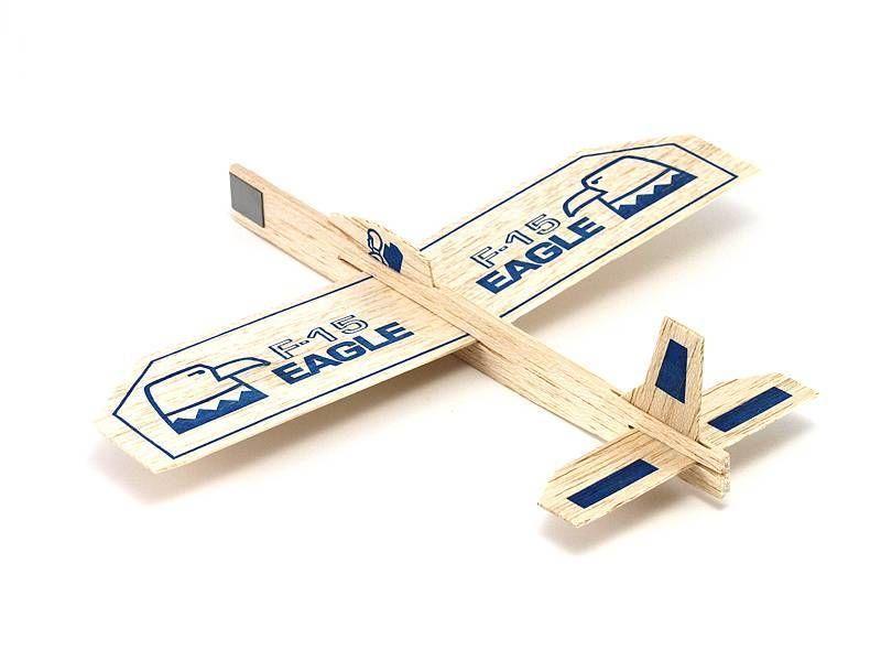 4 Eagle F 15 Balsa Wood Air Plane Glider Guillows Jet