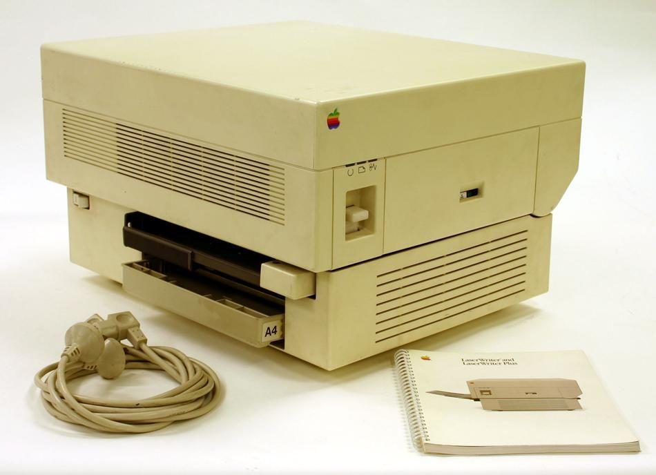 Kết quả hình ảnh cho Apple LaserWriter 1985