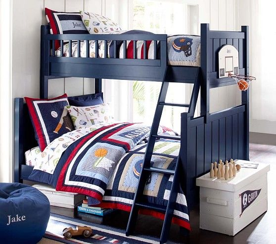 Camp Twin Over Full Bunk Bed Pottery Barn Kids For The Boys