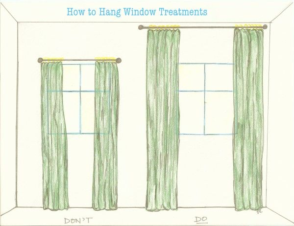 How To Properly Hang Window Treatments In 2019 Living