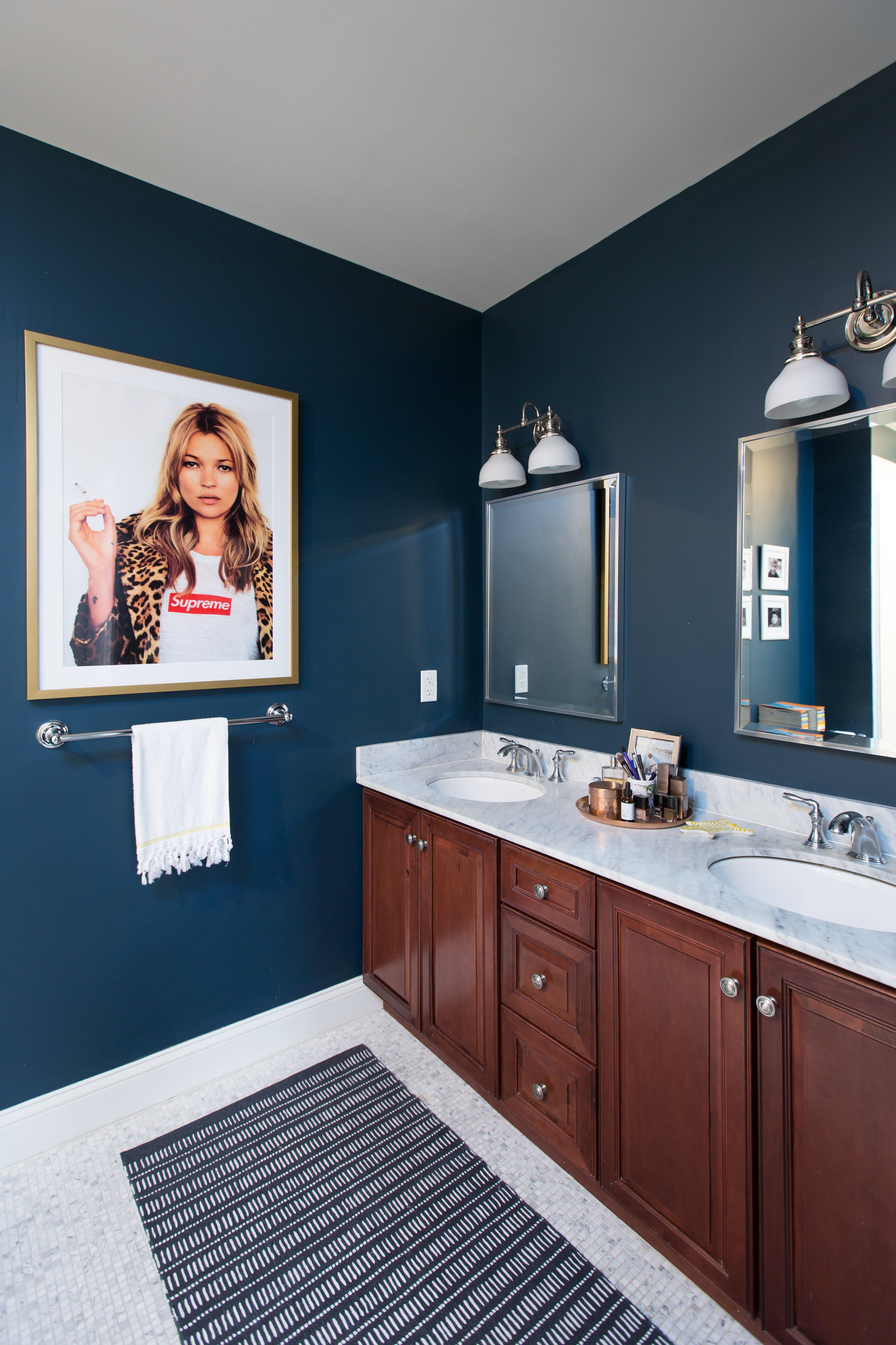 apartment therapy bathroom colors. paint colors that match this apartment therapy photo: sw 6250 granite peak, 2801 bathroom