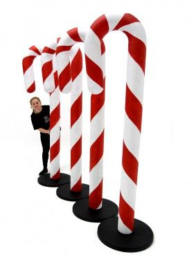Giant Candy Cane Prop Christmas Office Decoration Giant Candy