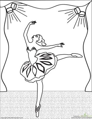 Ballerina Worksheet Education Com Dance Coloring Pages Ballerina Coloring Pages Coloring Pages