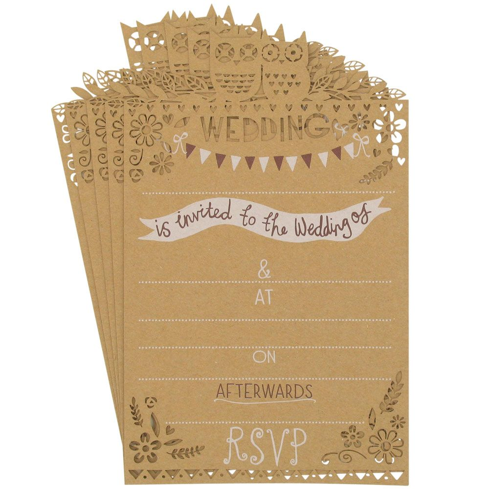woodland lasercut wedding invitations-pack 10 from Paperchase ...