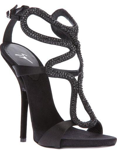 Giuseppe Zanotti Design black sandals
