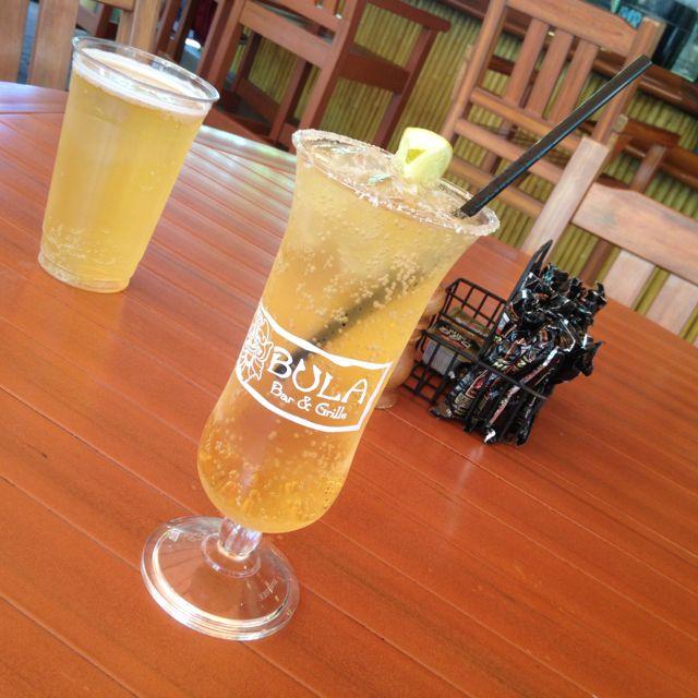 Corona Extra Chelada (corona w/ lime juice over ice in a salt rimmed glass)