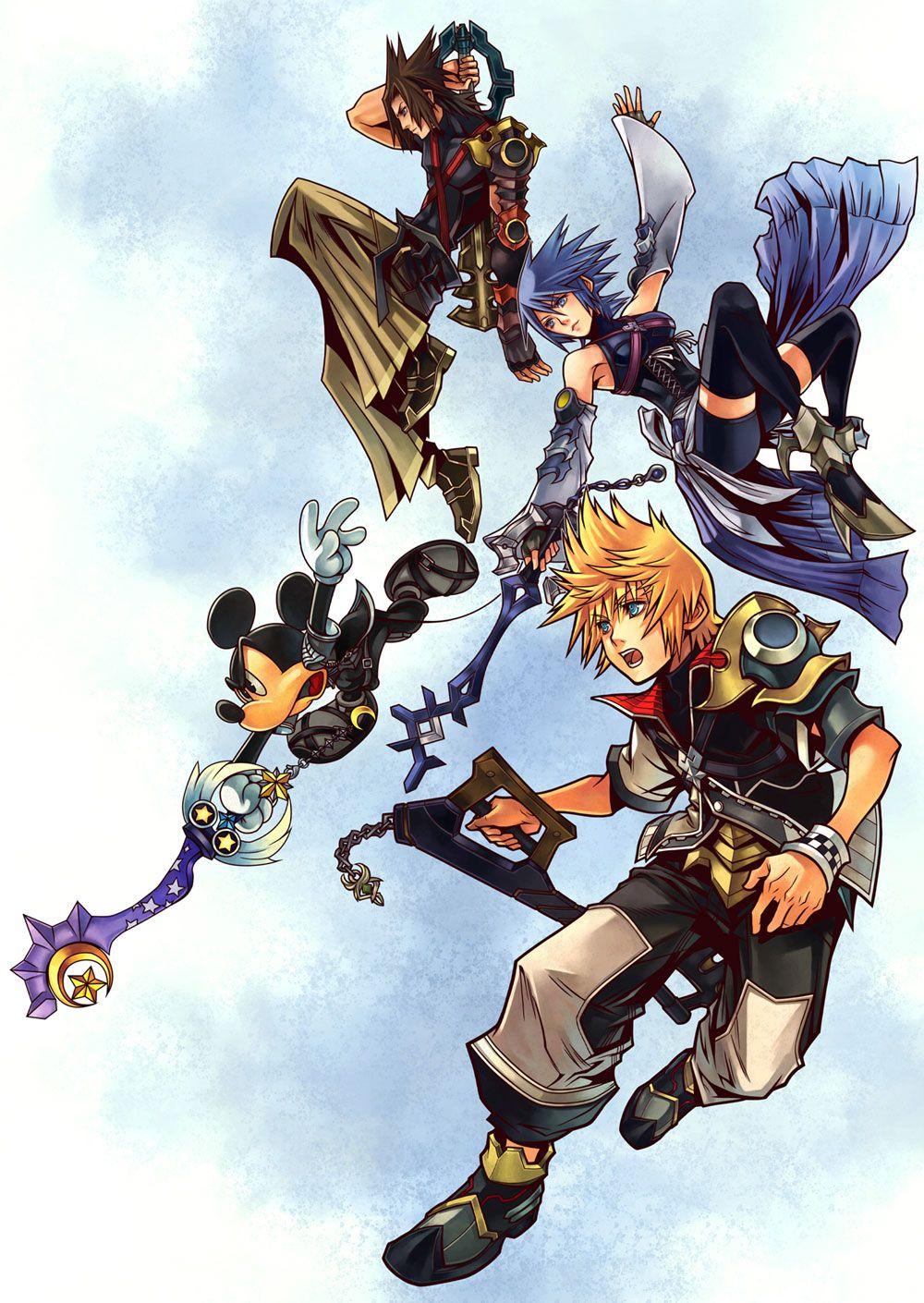 Kingdom Hearts: Birth by Sleep - Main Illustration | Video ...