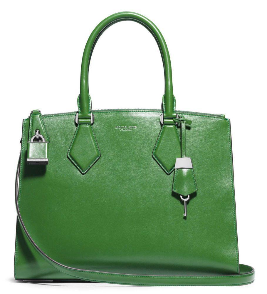 d3258dbc3fa905 NEW Authentic Michael Kors Casey Large Leather Satchel Bag ~Lawn $1195 # MichaelKors #Satchel