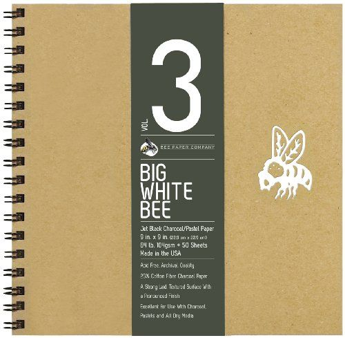 Follow us to http://freecycleusa.com Bee Paper Company Big White Bee Drawing Pad, 9 by 9-Inch, Black Charcoal