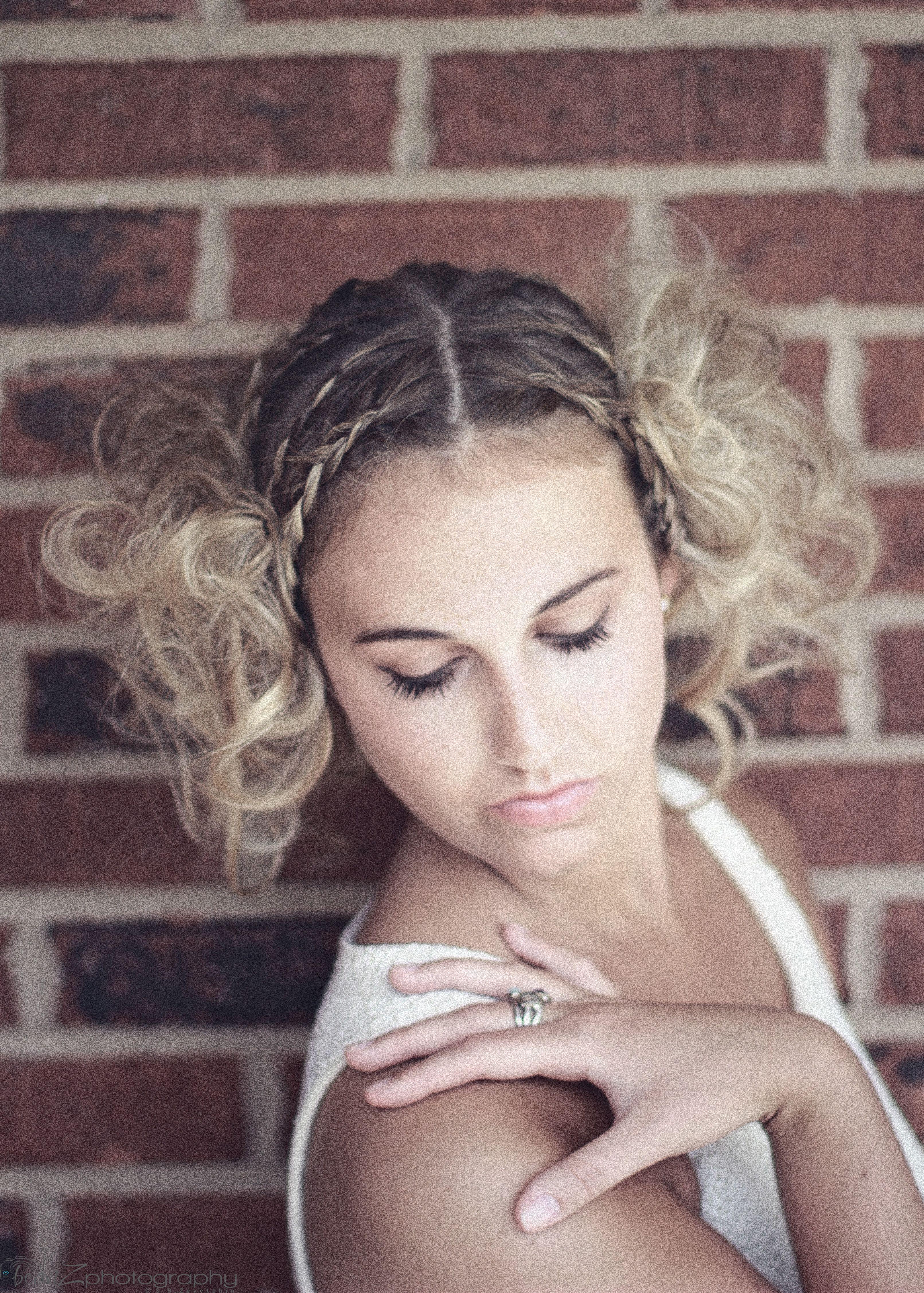 summer photoshoot bohemian princess blonde updo braids