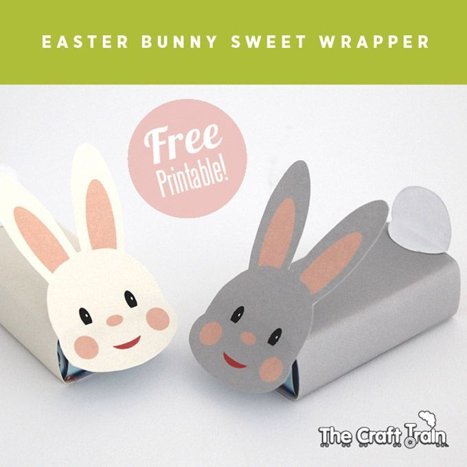 printable easter bunny sweet box wraps the craft train