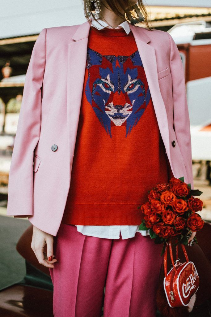 How To Wear Red And Pink Together Top Dusty Blazer Hot Tailored