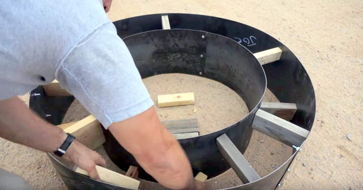 Diy fire pit diy craft projects rainwater harvesting