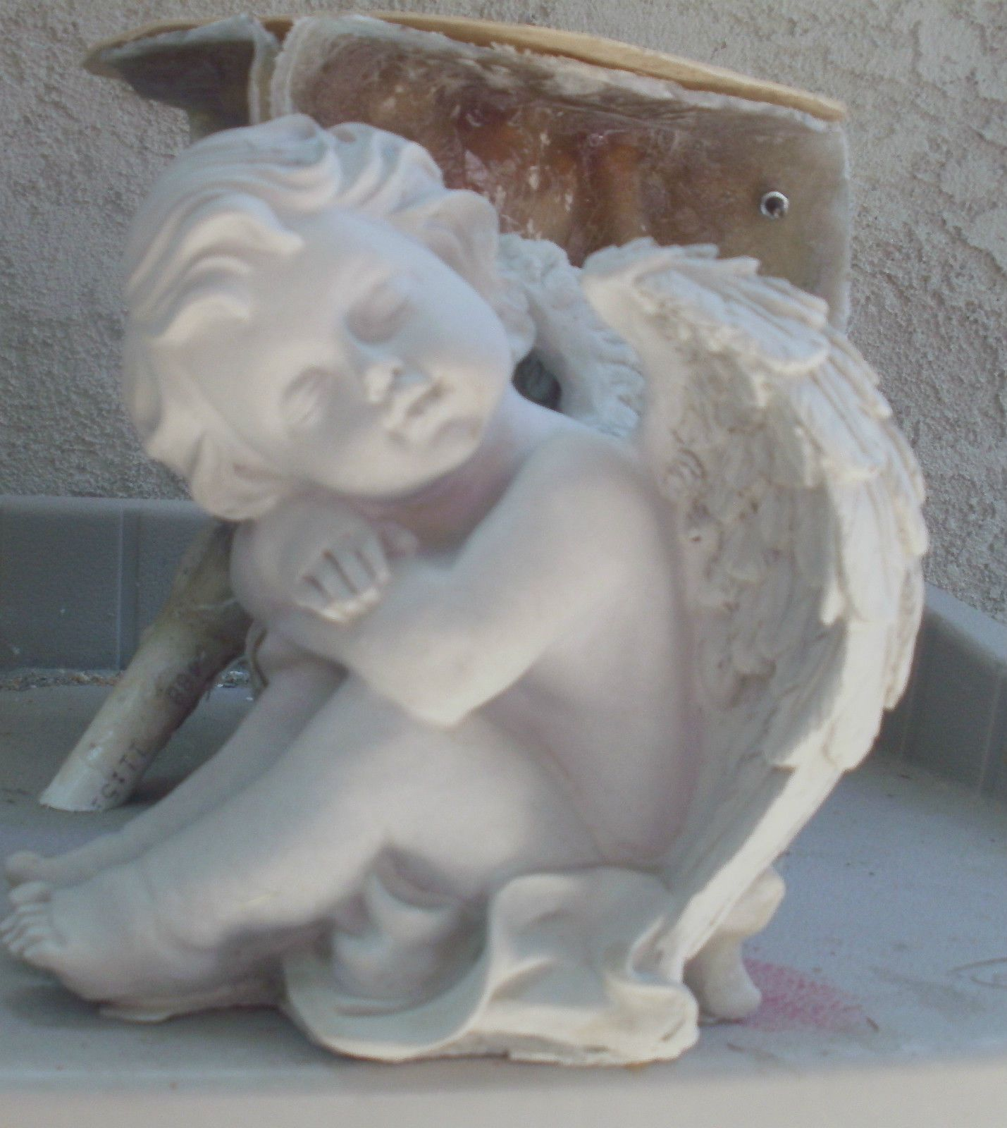 Plastic Angel wing mold  plaster concrete casting garden mould  medium
