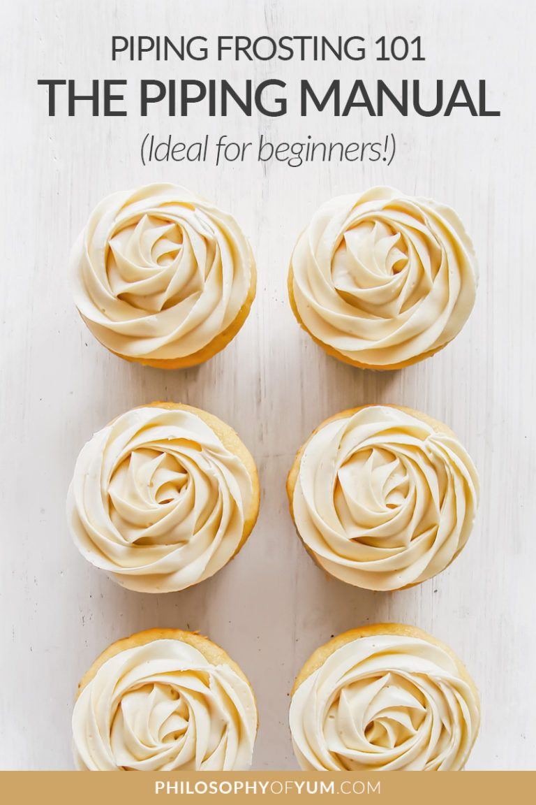 Piping Frosting 101 - The Frosting Piping Manual! #cupcakefrostingtips