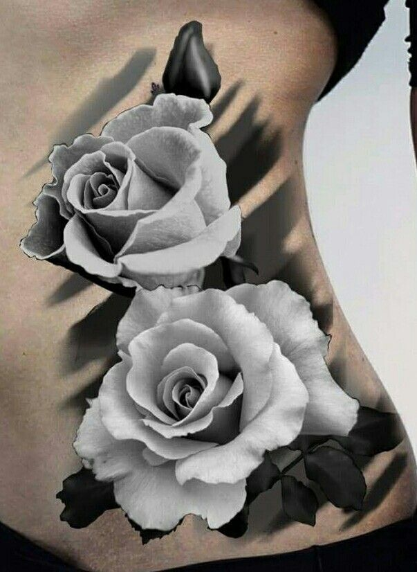 white rose tattoo side ribs tattoos pinterest rose. Black Bedroom Furniture Sets. Home Design Ideas