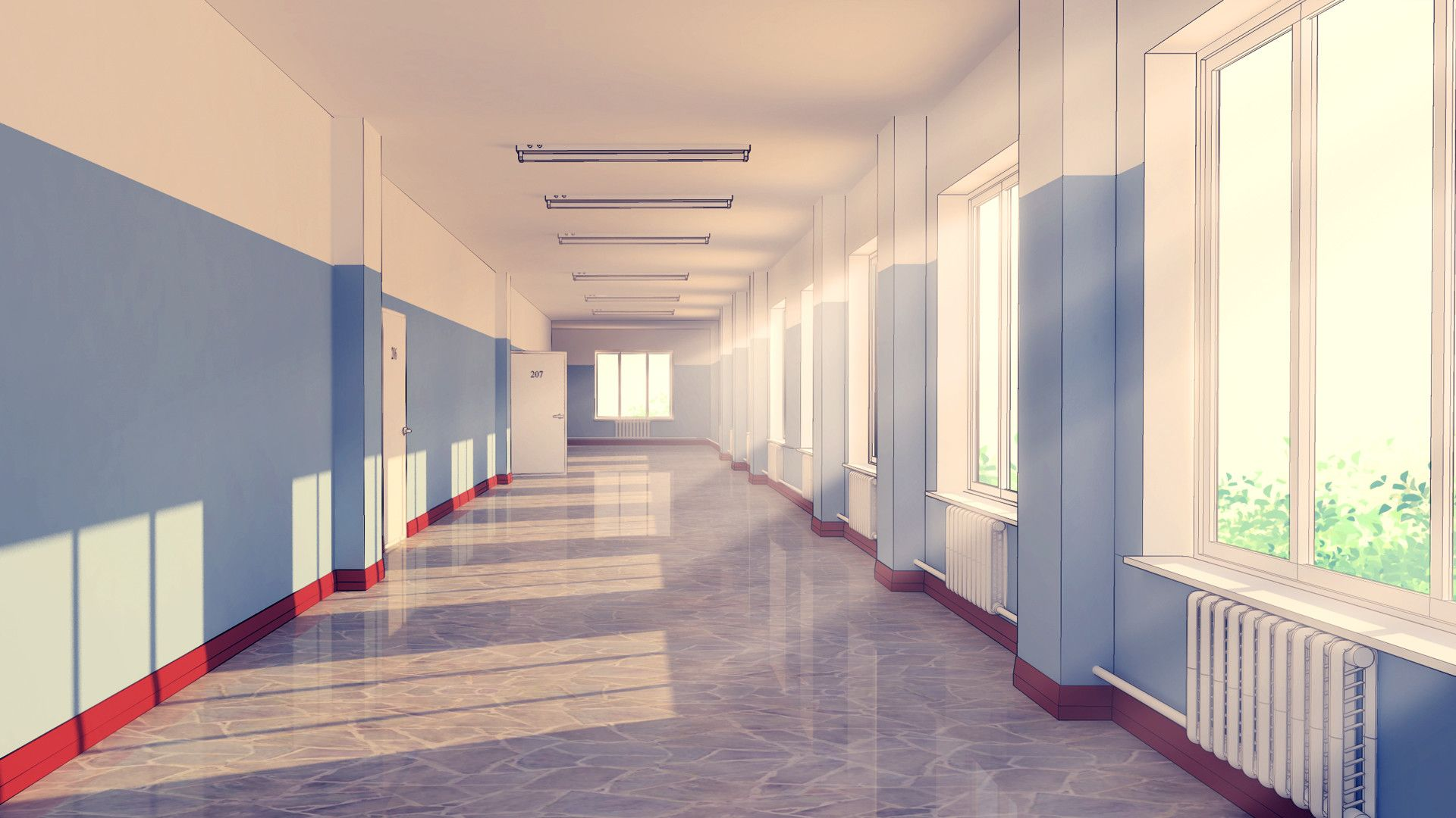 ArtStation School hallway, RaseL School hallways