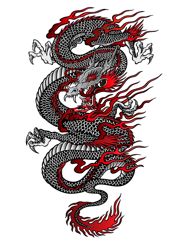 Asian Dragon iPhone Case by juyodesign