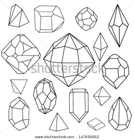 how to draw 3d geometric diamonds - Google Search