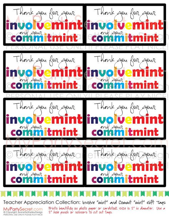 Thank You For Your Commit Mint Printable Just B Cause