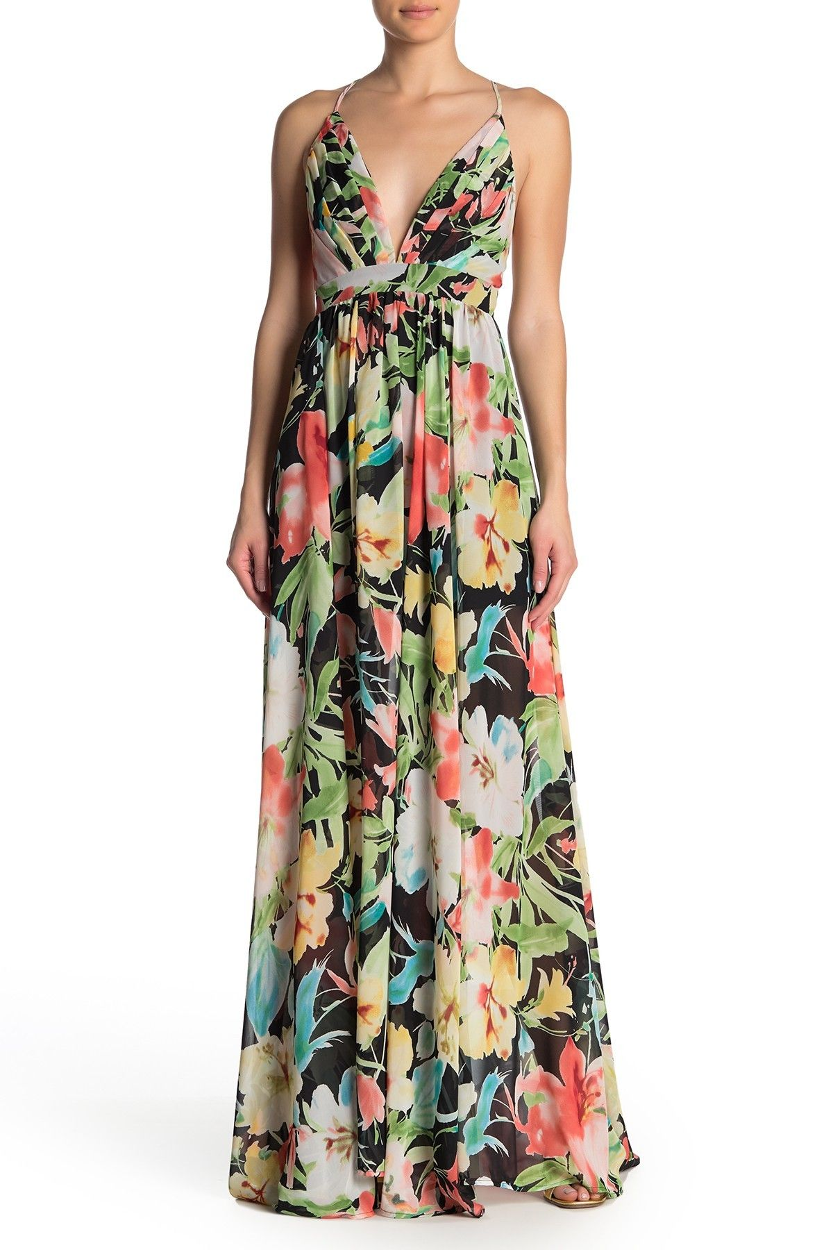 Meghan La Enchanted Garden Floral Print Dress Nordstrom Rack Print Dress Dresses Nordstrom Dresses [ 1800 x 1200 Pixel ]